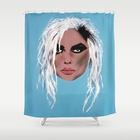 blondie Shower Curtains featuring Blondie ~ Debbie Harry, Lady of the eighties! by Bruce Stanfield