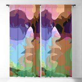 Feminist woman watercolor portrait side view- Beauty with brains Blackout Curtain