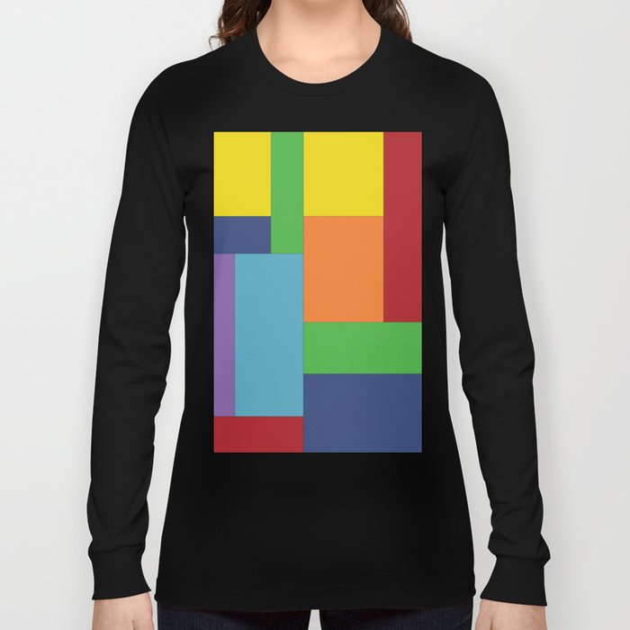 Multicolor square Long Sleeve T-shirt