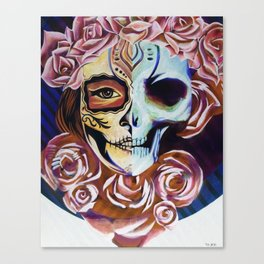 SkullFace Inverted Canvas Print