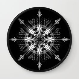 Black-and-White Abstract 16 Wall Clock