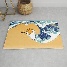 gudetama's great wave Rug