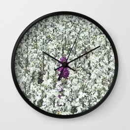 Purple One Wall Clock