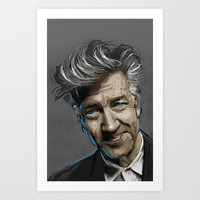david lynch Art Prints featuring DAVID LYNCH by AMBIDEXTROUS™