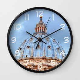 The dome of St. Peter's Basilica, Vatican, Rome, Italy. Wall Clock