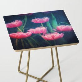 Pink Tulips Side Table