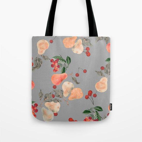 cherries and pears winter Tote Bag