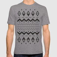 Peach Aztec Mens Fitted Tee Tri-Grey SMALL