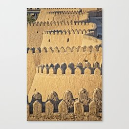 Khiva - silk road city wall Canvas Print