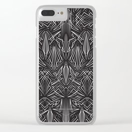 Pinstripe Pattern Creation IV Clear iPhone Case