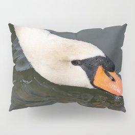 Mute Swan in Winter - Neck Skimming Pillow Sham