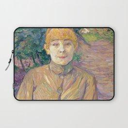 """Henri de Toulouse-Lautrec """"The Streetwalker (Also Known As Casque D'Or)"""" Laptop Sleeve"""