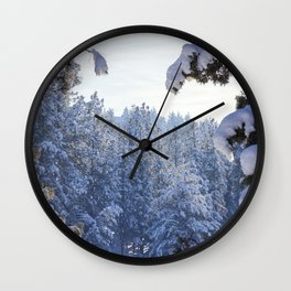 Winter Wonderland - Awbrey Meadow in Central Oregon Wall Clock