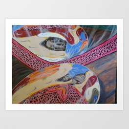 Warped Reflections Art Print
