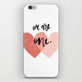 Soul mates hearts iPhone Skin