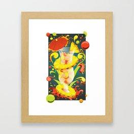 Beachside Blend - Mixology Series Framed Art Print