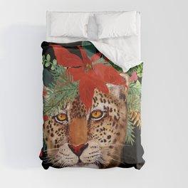 Leopard in December Comforters