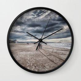 Walk on the Beach Wall Clock