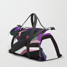 Scorpion geometric Animal  Zodiac sign Black and purple Duffle Bag