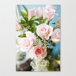 Peach Roses Canvas Print