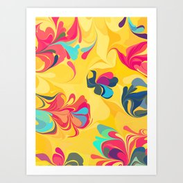 Flowers in the Wind 5 Art Print