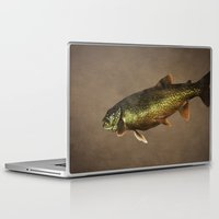 trout Laptop & iPad Skins featuring Trout on Brown by Brooke Ryan Photography