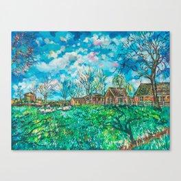 Dutch sheeps Canvas Print