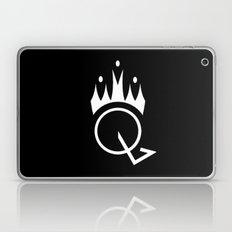 Q is for Queen (black) Laptop & iPad Skin