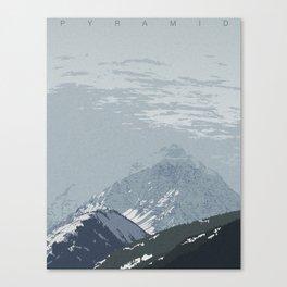Pyramid Peak Canvas Print