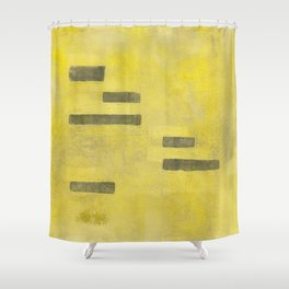 Stasis Gray & Gold 3 Shower Curtain