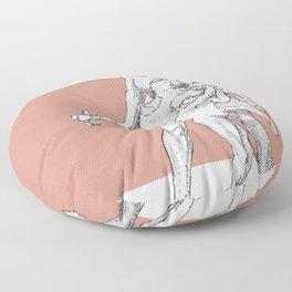 Neanderthal girl Floor Pillow