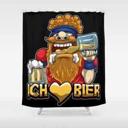 Ich liebe Bier - Brauerei Oktoberfest Saufen Alk Shower Curtain