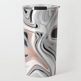 Liquid Marble with Copper Lines 015 Travel Mug