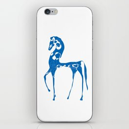 blue horse iPhone Skin