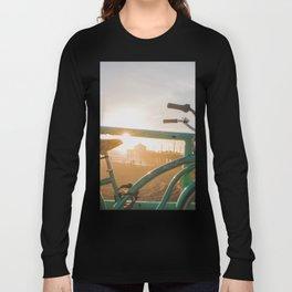 Bike & Beach in Sunny Manhattan Beach, California Long Sleeve T-shirt