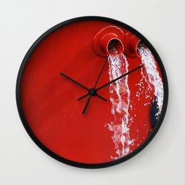 """emptying"" Wall Clock"