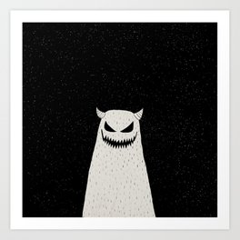Evil Monster Art Print