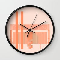 cigarette Wall Clocks featuring Cigarette Factory by Peter Cassidy