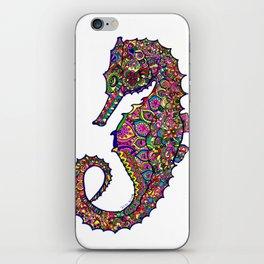 Seahorse colourful mandala iPhone Skin