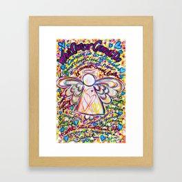 Spring Hearts Cancer Angel Framed Art Print