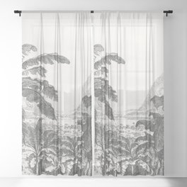Palms and Mountain Sheer Curtain