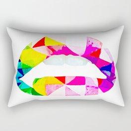 Labios geometricos Rectangular Pillow