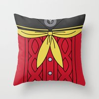 persona 4 Throw Pillows featuring Persona 4 Yukiko Amagi Uniform by Bunny Frost