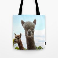 alpaca Tote Bags featuring Alpaca by SC Photography