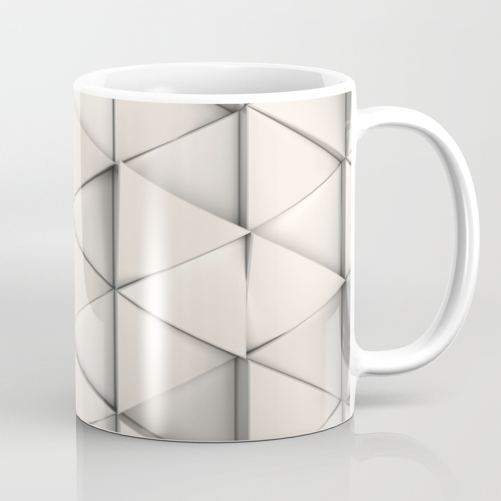 Pattern Of White Triangle Prisms Mug by Goodwin MUG8673774