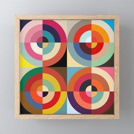 4 Seasons - Colorful Classic Abstract Minimal Retro 70s Style Graphic Design Framed Mini Art Print