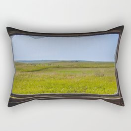 View from the Yellow House, Arena, North Dakota 2 Rectangular Pillow