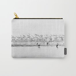 Flock of Terns and Pelicans in the Florida Bay Carry-All Pouch