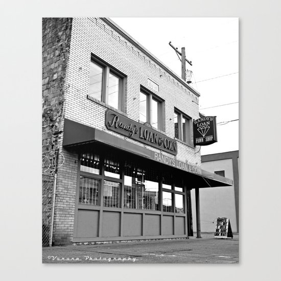 Randy's pawn shop Canvas Print