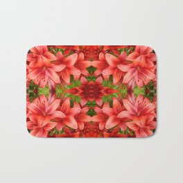"""A Gathering of Lilies"" Remix - 5 (4-1) [D4471~15] Bath Mat"